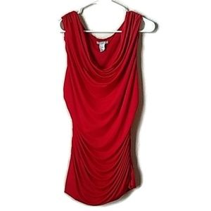 H&M Ruched Sleeveless Blouse
